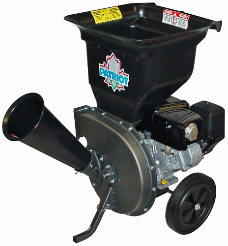 The Patriot HP Briggs & Stratton is a gas-powered wood chipper and leaf shredder. It isn't that bulky and can handle most of the debris on your property.