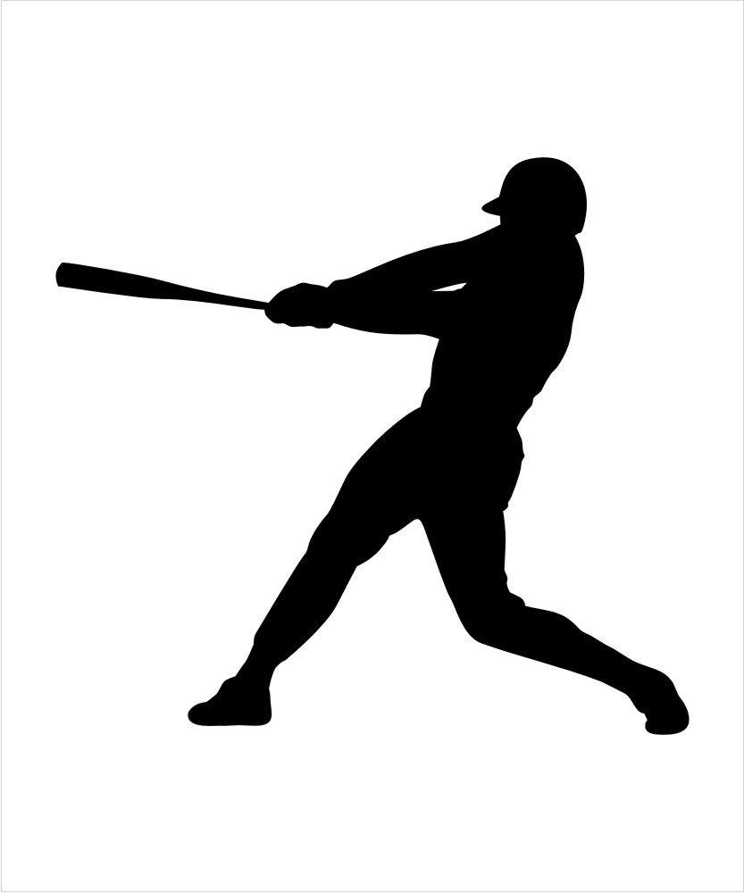 amazon com baseball player outline decall baseball player