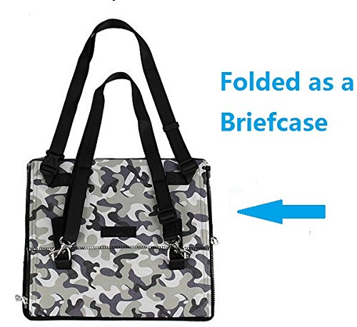 Pet Dog Car Carrier Booster Seat Waterproof Front Seat Collapsable Basket with Fleece Mat for Small Animal Cats (Small, Camouflage) by Petall (Image #3)