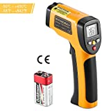 Infrared Thermometer, SYNERKY Infrared Temperature Gun Non-contact Digital Laser IR with HD Backlit LCD Display -58℉ - 842℉ (-50℃ to 450℃)