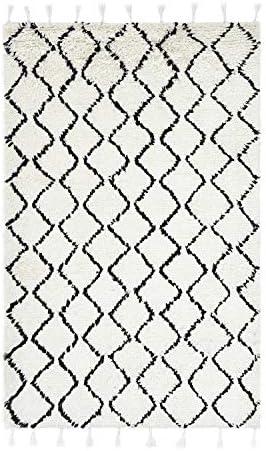 Solo Rugs Floyd Bohemian Shaggy Moroccan Hand Loomed Indoor Area Rug
