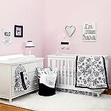 NoJo Dreamer - Black/White Floral 8 Piece Comforter Set
