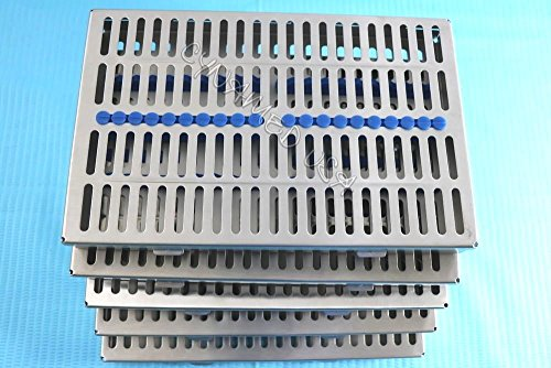 5 HEAVY DUTY GERMAN DENTAL AUTOCLAVE STERILIZATION CASSETTE RACK BOX TRAY FOR 20 INSTRUMENT BLUE ( CYNAMED ) by CYNAMED (Image #8)