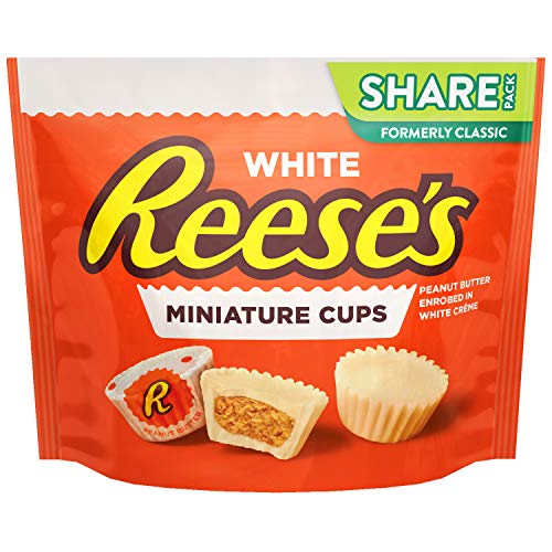 REESE'S White Creme Peanut Butter Cup Candy, Miniatures, 10.5 oz ()