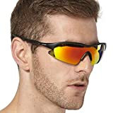LUXPARD Premium Polarized Sports Sunglasses with Superlight Frame. Great for Baseball, Cycling. 100% UV Protection TAC Lenses