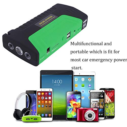 Green KNOSSOS 68000Ma Portable Emergency Start Car Jump Starter Power Bank with Three Lights