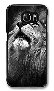 VUTTOO Rugged Samsung Galaxy S6 Edge Case, Majestic Lion Portrait Customize Hard Back Case for Samsung Galaxy S6 Edge PC Black