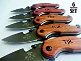 6 SET Personalized Pocket Knife. Perfect Gift for Groomsman. Gift for Dad