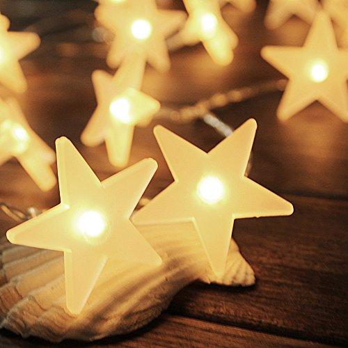 LED Lichterkette | InnooLight 3 Meter 30er LED Sterne Lichterketten Batteriebetrieben Warmweiß | Innen Beleuchtung Deko für Garten, Wohnungen, Tanzen, Hochzeit, Weihnachtsfeier usw.