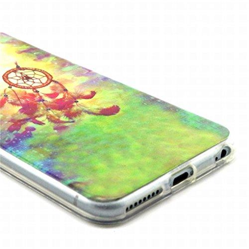 Pour Apple iphone 6 6S (4.7inch) Coque Etui, Ougger Unique Soft Mince Transparent TPU Caoutchouc Silicone Léger Protecteur Coquille Skin Housse (Série Peints 3)