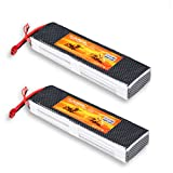 Floureon 2Packs 3S 11.1V 8000mAh 40C Lipo Battery 8.27*2.26*1.25 inch for RC Quadcopter Airplane Helicopter Car Truck Boat Hobby (Deans T Plug)