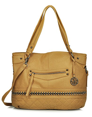 Jessica Simpson Margaret Tote Shoulder Bag (Acorn)