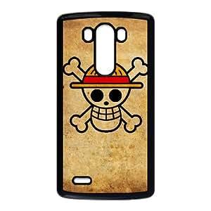 One Piece Funda LG G3 Funda caja del teléfono celular Negro U9J1SQ3M plástico caja del teléfono Borrar