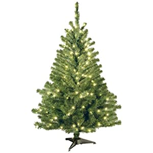 National Tree 4 Foot Kincaid Spruce Tree with 100 Clear Lights (KCDR-40LO-S) 28