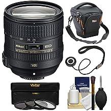 Nikon 24-85mm f/3.5-4.5G VR ED AF-S Nikkor-Zoom Lens + Case + 3 Filters Kit for D3200, D3300, D5300, D5500, D7100, D7200, D750, D810 Cameras