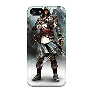 New Style Tpu 5/5s Protective Case Cover/ Iphone Case - Assassins Creed Iv Black Flag Game
