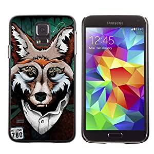 Designer Depo Hard Protection Case for Samsung Galaxy S5 / Clever Fox Mug Shot Art