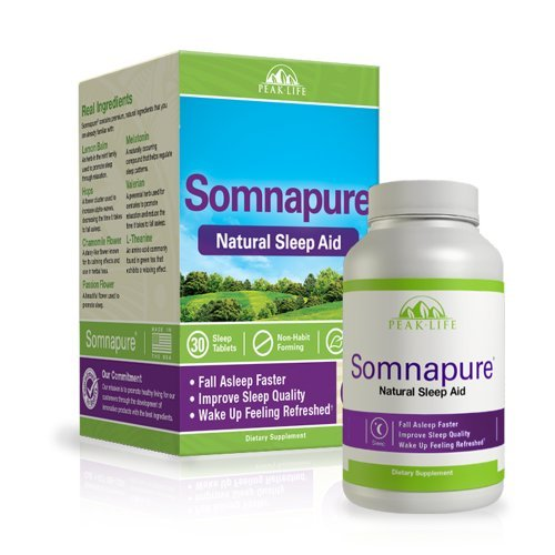 Amazon.com: Somnapure - Natural Sleep Aid - 30 Tablets by Peak Life: Health & Personal Care
