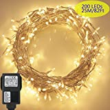 Tomshine 200LEDs String Light 6w 82ft IP44 Water Resistance Eight Lighting Effects for Party Living Room Bedroom Patio Garde