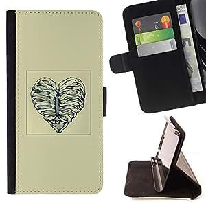 Momo Phone Case / Flip Funda de Cuero Case Cover - Deshuesar corazón del amor - Apple Iphone 4 / 4S