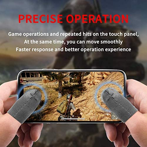 FINGER SLEEVES FOR GAMING, [8 PACK] MOBILE GAME FINGER SLEEVE SETS TOUCH SCREEN FINGER COT SMOOTH THIN ANTI-SWEAT BREATHABLE FOR MOBILE GAMES, COMPATIBLE WITH IPHONE/IPAD/ANDROID PHONE AND TABLET