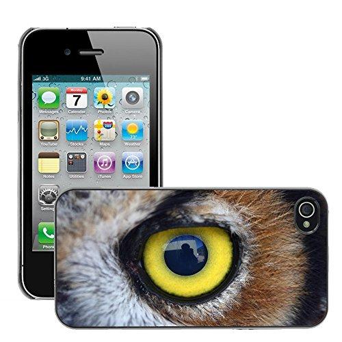 Premio Sottile Slim Cassa Custodia Case Cover Shell // V00002216 Chouette oeil // Apple iPhone 4 4S 4G