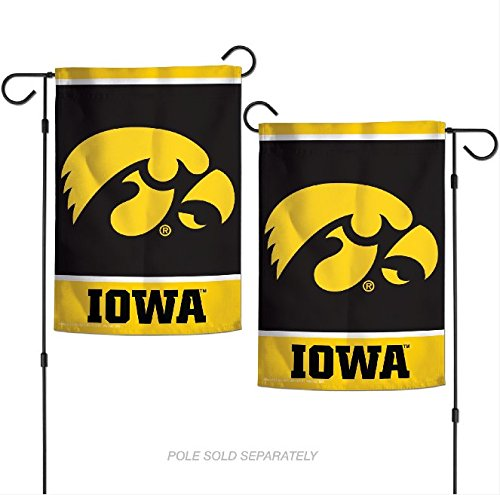 "WinCraft NCAA Iowa Hawkeyes 12.5"" x 18"" Inch 2-Sided Garden Flag Logo"