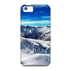Top Quality Protection Ice Mountains Blue Sky Case Cover For Iphone 5c