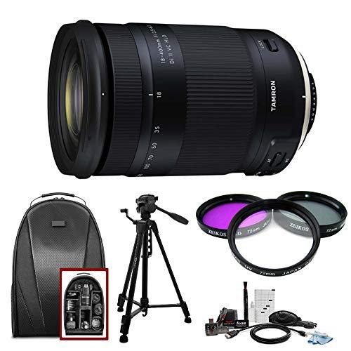Tamron 18-400mm f/3.5-6.3 Di II VC HLD Lens for Nikon F w/Tripod Bundle 6 Year Limited USA Warranty