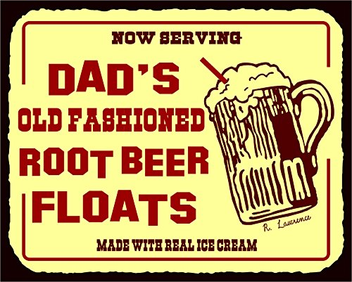 Dads Root Beer Floats Vintage Metal Art Diner Retro Tin Soda Sign (Root Beer Tin)