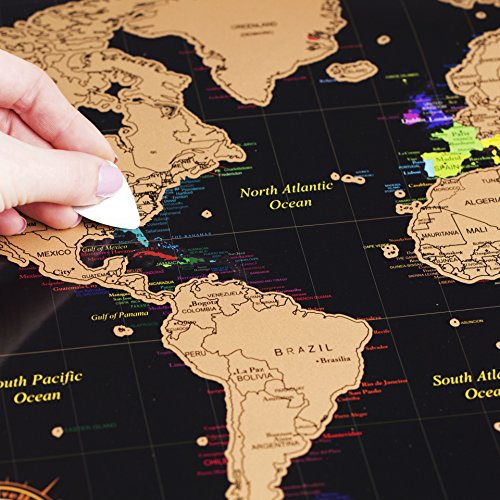 Scratch off world map poster deluxe united states map includes scratch off world map poster deluxe united states map includes complete accessories set gumiabroncs Gallery