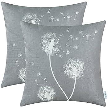 Amazon.com: CaliTime - Fundas para almohadas de lona suave ...
