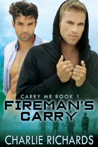 Lesbian firemans carry her kissed her