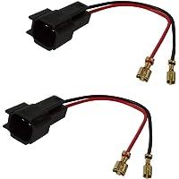 AERZETIX: 2x Conectores adaptadores para altavoces de coche