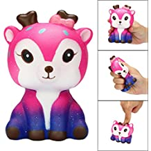 Gocheaper Squishy Toy,Kawaii Cartoon Galaxy Deer Squishy Slow Rising Cream Scented Stress Reliever Toy