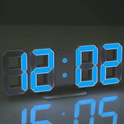 TOOGOO Reloj LED Multifuncional Reloj de Pared Digital Grande LED 12H / 24H Pantalla de Tiempo con Alarma Y Función de Posponer Luminancia Ajustable: ...