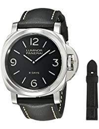 Men's PAM00560 Luminor Stainless Steel Mechanical Hand-Wind Watch with Interchangeable Bands