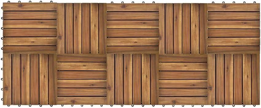 vidaXL 10x Baldosas Jardín Terraza Balcón de Acacia Modelo Vertical 30x30 cm: Amazon.es: Bricolaje y herramientas