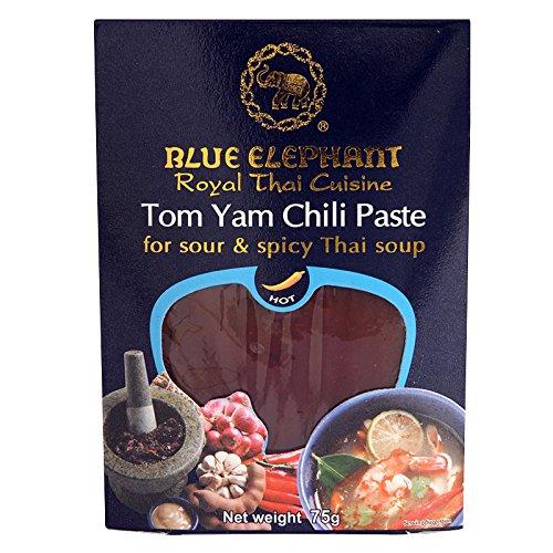 Chili Paste Net - Blue Elephant, Tom Yam Chili Paste, net weight 75 g (Pack of 2 pieces)/8y KK
