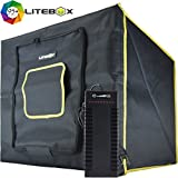 LITEBOX: Photo Studio Light Box Kit (DIMMABLE LED) for photography & 360 videos - Includes Adjustable Lights, Backdrops, Diffuser, Tripod & Travel bag! - 5500K Daylight