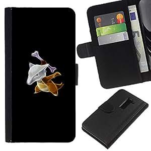 YiPhone /// Tirón de la caja Cartera de cuero con ranuras para tarjetas - Marowak P0kemon - LG G2 D800