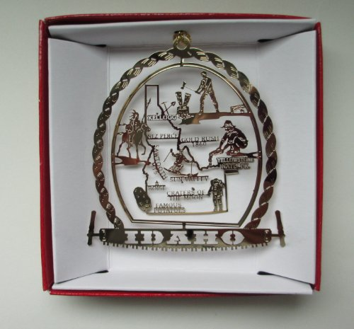 Idaho Christmas ORNAMENT Travel Souvenir Gift Boise Potatoes Yellowstone Park + More