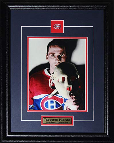 Midway Memorabilia Jacques Plante Montreal Canadiens The Goalie Mask 8x10 NHL Hockey Collector Frame