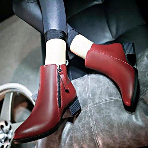 Mode Bottes Chaussures Femmes femmes Yogogo Chaussures Vintage wrxrZYq