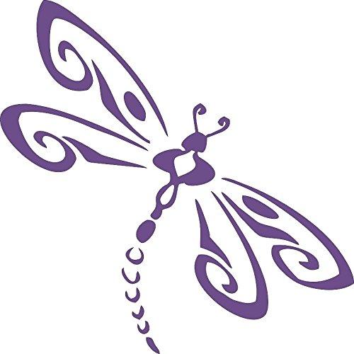 Barking Sand Designs Purple Dragonfly - Die Cut Vinyl Window Decal/Sticker for Car/Truck
