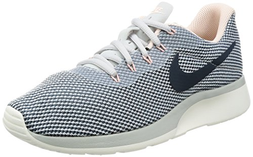NIKE Women's Tanjun Racer Running Shoe Pure Platinum/Armory Navy-Armory Blue 10 by NIKE