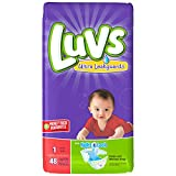 Health & Personal Care : Luvs Ultra Leakguards Diapers Size 1 48 Count (2 Packages)