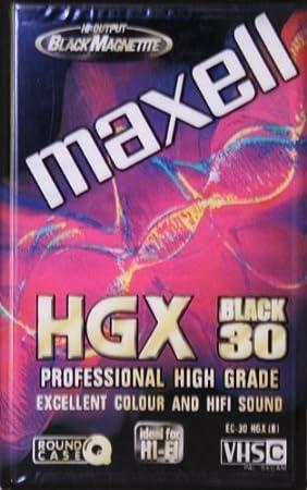 Maxell Ec 30 Hgx Black Vhs C High Grade Elektronik