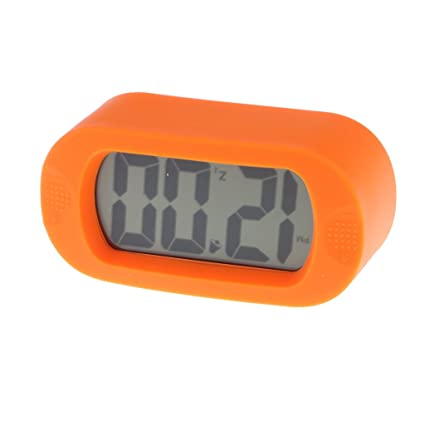 Amazon.com: Baoblaze Silicone LCD Alarm Clock Digital ...