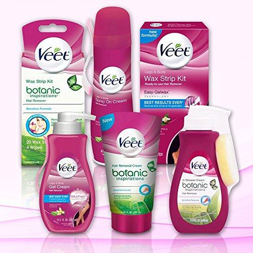 Veet Wax Strip Kit, 40 Count for Legs & Body